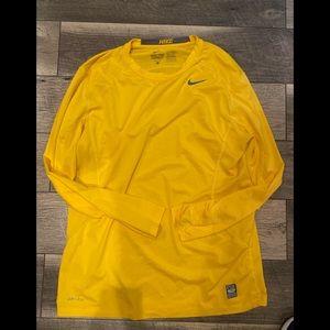 Nike pro combat dri fit long sleeve large